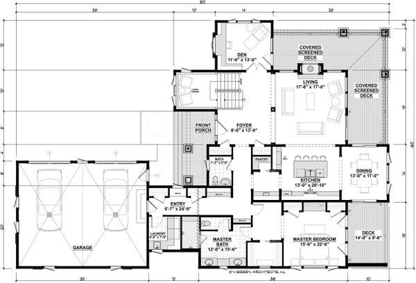 Cottage Floor Plan - Main Floor Plan #928-319