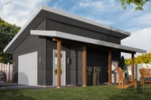 Home Plan - Contemporary Exterior - Front Elevation Plan #23-2668