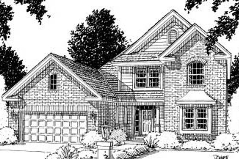 Traditional Exterior - Front Elevation Plan #20-173 - Houseplans.com
