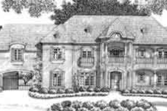 European Exterior - Front Elevation Plan #141-159