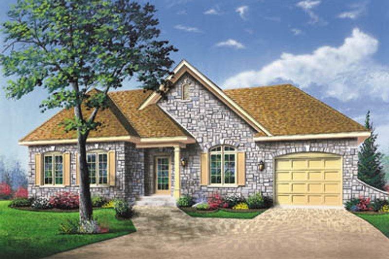 Architectural House Design - European Exterior - Front Elevation Plan #23-136