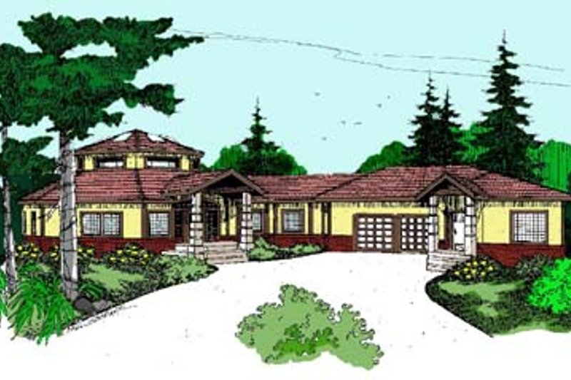 Modern Exterior - Front Elevation Plan #60-513 - Houseplans.com