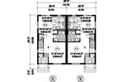 European Style House Plan - 6 Beds 2 Baths 3544 Sq/Ft Plan #25-4393 Floor Plan - Main Floor Plan