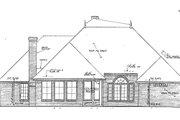 European Style House Plan - 4 Beds 3 Baths 2620 Sq/Ft Plan #310-855 Exterior - Rear Elevation