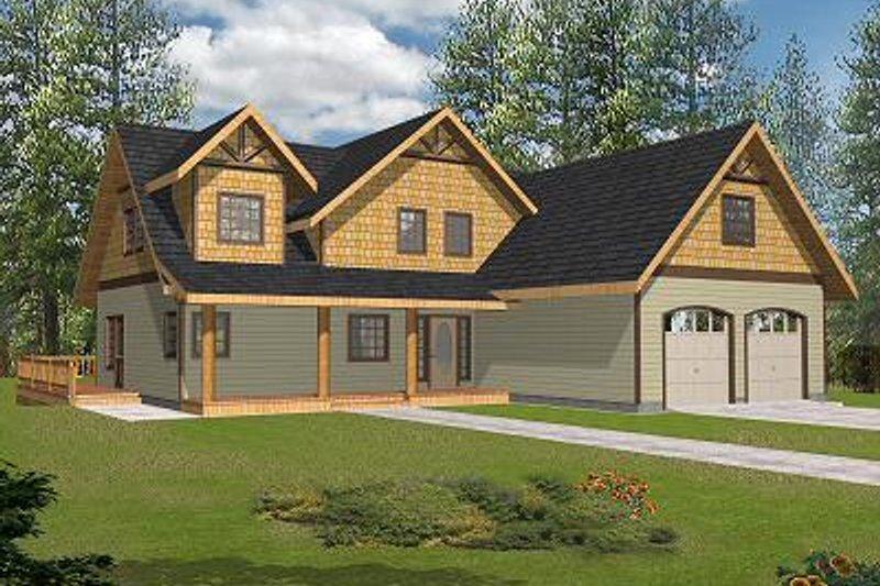 Bungalow Exterior - Front Elevation Plan #117-546 - Houseplans.com