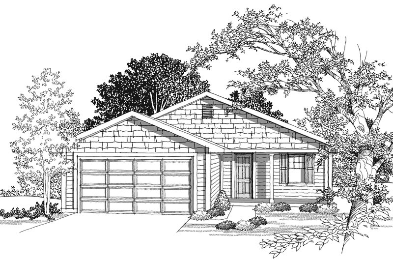 Ranch Photo Plan #70-1017 - Houseplans.com