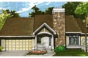 Craftsman Style House Plan - 3 Beds 2.5 Baths 1577 Sq/Ft Plan #320-345 Exterior - Front Elevation