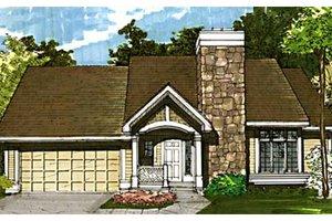 Craftsman Exterior - Front Elevation Plan #320-345