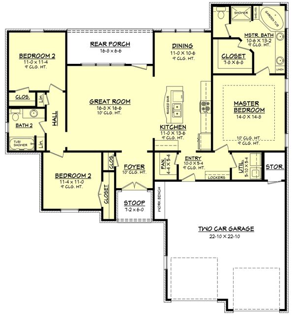 European Floor Plan - Main Floor Plan Plan #430-66