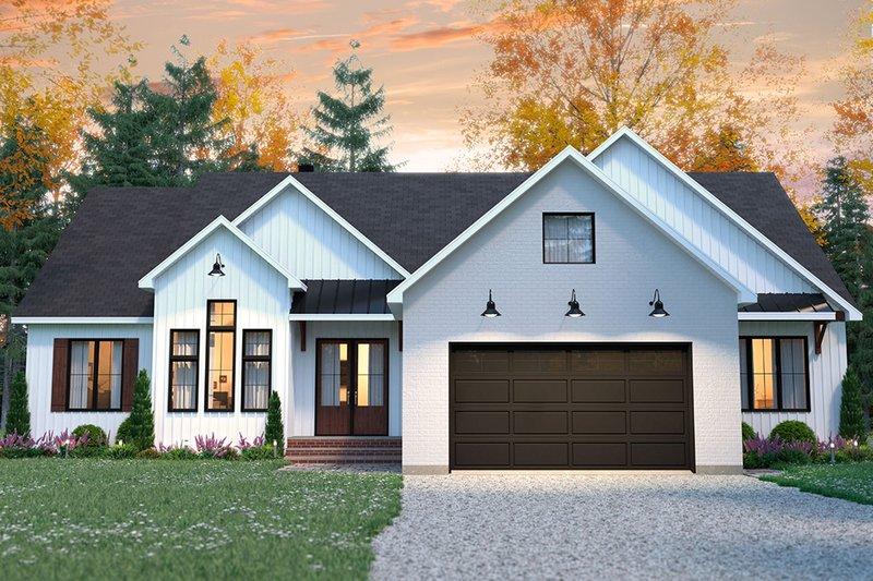 House Plan Design - Farmhouse Exterior - Front Elevation Plan #23-2723