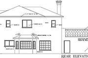 Mediterranean Style House Plan - 4 Beds 3.5 Baths 2627 Sq/Ft Plan #1-636 Exterior - Rear Elevation