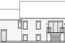 Home Plan - Traditional Exterior - Rear Elevation Plan #23-817