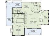 Cottage Style House Plan - 3 Beds 2.5 Baths 2637 Sq/Ft Plan #17-2544 Floor Plan - Main Floor Plan