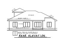 House Blueprint - Contemporary Exterior - Rear Elevation Plan #20-2428