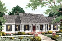 Southern Exterior - Front Elevation Plan #406-128
