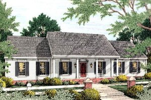 Dream House Plan - Southern Exterior - Front Elevation Plan #406-128