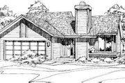 Ranch Style House Plan - 2 Beds 1 Baths 988 Sq/Ft Plan #320-104 Exterior - Front Elevation