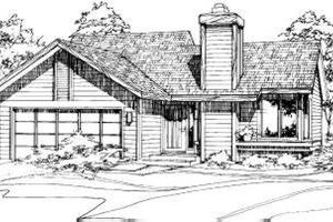 Ranch Exterior - Front Elevation Plan #320-104