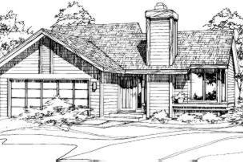 Home Plan - Ranch Exterior - Front Elevation Plan #320-104