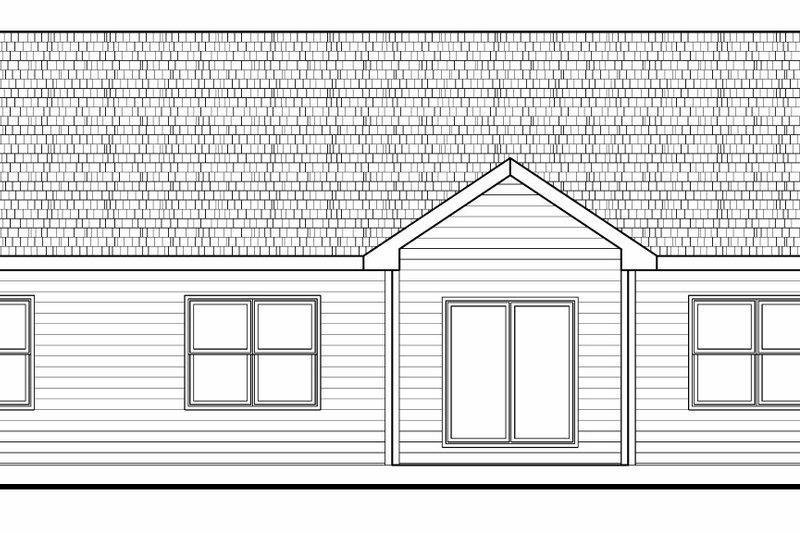Craftsman Exterior - Rear Elevation Plan #20-2182 - Houseplans.com