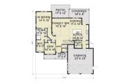 Farmhouse Style House Plan - 3 Beds 2.5 Baths 2038 Sq/Ft Plan #1070-2 Floor Plan - Main Floor Plan
