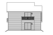 Home Plan Design - European Exterior - Rear Elevation Plan #57-186