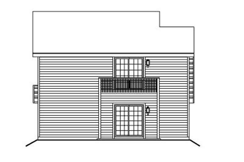European Exterior - Rear Elevation Plan #57-186 - Houseplans.com