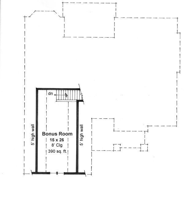 Craftsman Floor Plan - Other Floor Plan Plan #51-516