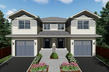 Architectural House Design - Craftsman Exterior - Front Elevation Plan #126-203
