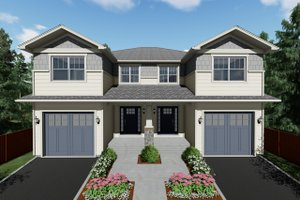 Craftsman Exterior - Front Elevation Plan #126-203