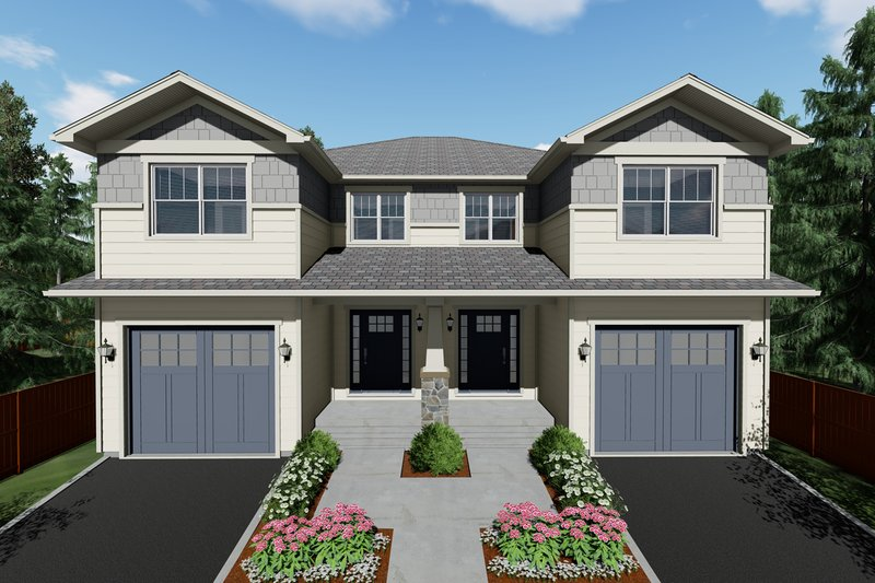 Home Plan - Craftsman Exterior - Front Elevation Plan #126-203