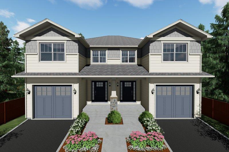 Architectural House Design - Craftsman Exterior - Front Elevation Plan #126-203