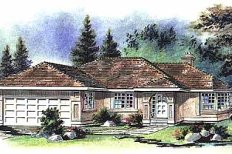 Ranch Exterior - Front Elevation Plan #18-130