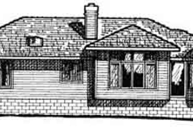 Traditional Exterior - Rear Elevation Plan #20-492 - Houseplans.com