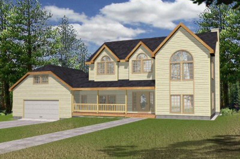 European Exterior - Front Elevation Plan #117-131 - Houseplans.com