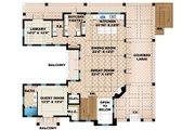 Mediterranean Style House Plan - 2 Beds 2.5 Baths 3996 Sq/Ft Plan #27-450 Floor Plan - Main Floor Plan