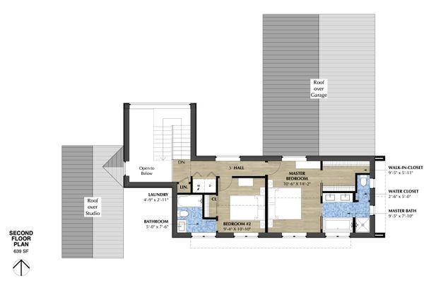 Modern Floor Plan - Upper Floor Plan #933-7