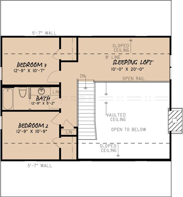 Country Floor Plan - Upper Floor Plan Plan #923-40