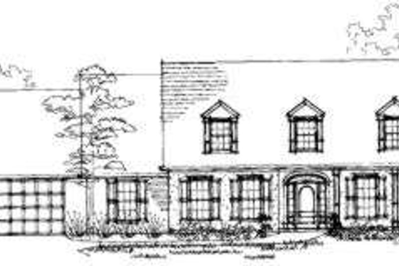 European Style House Plan - 4 Beds 3 Baths 3122 Sq/Ft Plan #325-110 Exterior - Front Elevation