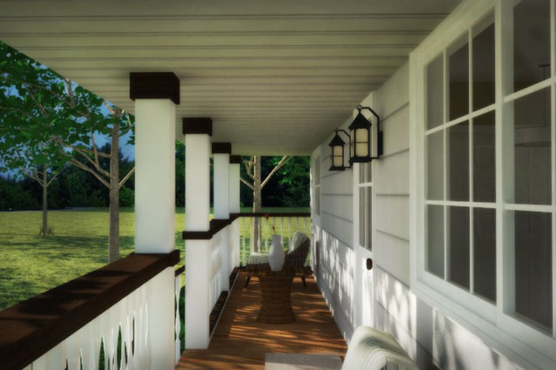 Country Exterior - Other Elevation Plan #18-1027 - Houseplans.com