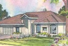 Mediterranean Exterior - Front Elevation Plan #124-412