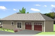Craftsman Style House Plan - 4 Beds 2 Baths 1612 Sq/Ft Plan #44-179 Exterior - Other Elevation