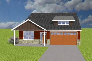 Ranch Exterior - Front Elevation Plan #423-69