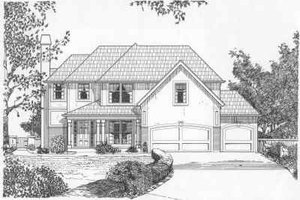 Traditional Exterior - Front Elevation Plan #6-147