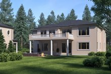 House Plan Design - Mediterranean Exterior - Rear Elevation Plan #1066-46