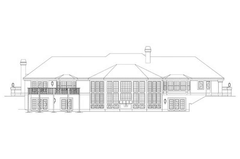 Traditional Exterior - Rear Elevation Plan #57-273 - Houseplans.com