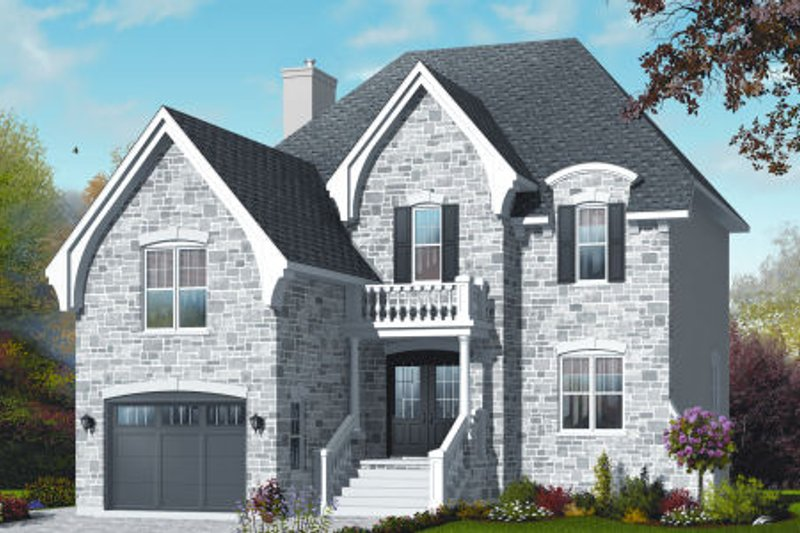 Home Plan - European Exterior - Front Elevation Plan #23-2234