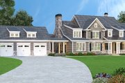 Traditional Style House Plan - 5 Beds 4.5 Baths 4416 Sq/Ft Plan #419-123