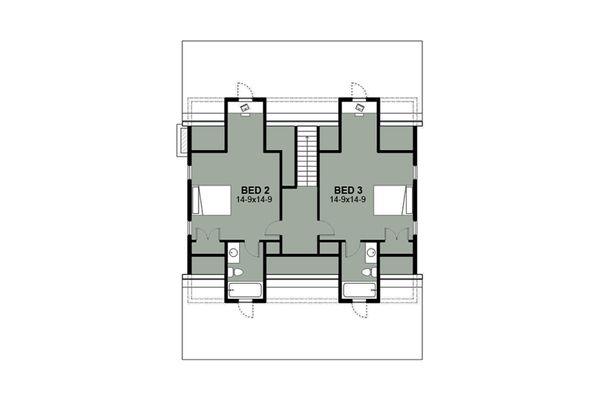 Farmhouse Floor Plan - Upper Floor Plan Plan #497-7