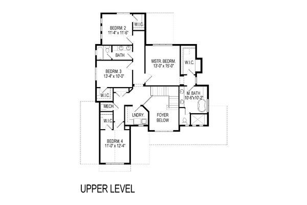 Craftsman Floor Plan - Upper Floor Plan Plan #920-35